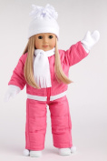 Let It Snow - 7 piece complete snow suit - includes pink snow pants and jacket, white turtle neck, hat, scarf mittens and boots - 46cm doll clothes