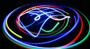 Rainbow Bliss - Orbital Rave Light Toy - 4-Microlight LED Spinning Flywheel Light Show by Rob's Super Happy Fun Store ...
