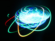 Green Bliss - Orbital Rave Light Toy - 4-Microlight LED Spinning Flywheel Light Show by Rob's Super Happy Fun Store ...