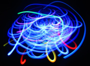 Blue Bliss - Orbital Rave Light Toy - 4-Microlight LED Spinning Flywheel Light Show by Rob's Super Happy Fun Store ...