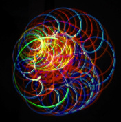 Amber Bliss - Orbital Rave Light Toy - 4-Microlight LED Spinning Flywheel Light Show by Rob's Super Happy Fun Store ...