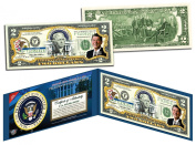 RONALD REAGAN * 40th U.S. President * Colourized $2 Bill US Genuine Legal Tender