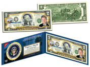 BILL CLINTON * 42nd U.S. President * Colourized $2 Bill US Genuine Legal Tender