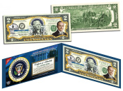 CALVIN COOLIDGE * 30th U.S. President * Colourized $2 Bill - Genuine Legal Tender