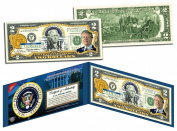JIMMY CARTER * 39th U.S. President * Colourized $2 Bill US Genuine Legal Tender