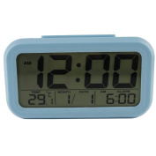Sealive Digital Plastic Alarm Clock With Backlit Large Screen Bedside Alarm Clocks With Snooze Function ,Time/Calender/Temperture Display , Light Activated Night Light ,Easy To Set Portable lightweight Size Travel Alarm Clocks