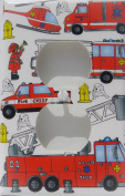 Fire Trucks Outlet Switch Plate Cover / Fire Engine Outlet Cover / Firetruck Wall Decor