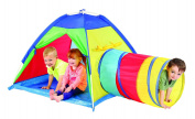 Multi-Colour Tent with Tunnel