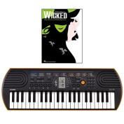 Casio SA-76 44 Key Mini Keyboard Bundle Includes Bonus Wicked Beginning Piano Solo Songbook