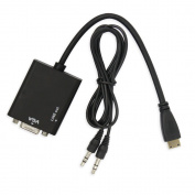 Caxico MINI HDMI TO VGA with Audio Cable Adapter for PC Laptop HD-set-top-box PS3 Xbox360 Tablet
