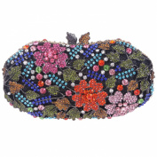 Fawziya® Flower Leaves Bling Crystal Evening Bags Flower Clutch Bag