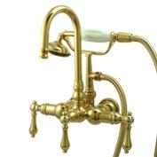 Kingston Brass CC7T2 Vintage Leg Tub Filler with Hand Shower, Polished Brass