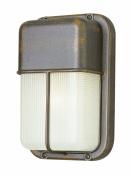 Trans Globe Lighting 41103 BK 25cm 1-Light Outdoor Bulkhead, Black