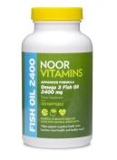 NoorVitamins Omega 3 Fish Oil - 120 Softgels - Halal Vitamins