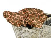 Wupzey Shopping Cart Cover, Orange Giraffe