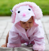 Baby-Steps, Pink Poodle Hooded Bathrobe and Towel, 0-12 Months, Bath Robe Baby Shower. Gift Box with Purchase!
