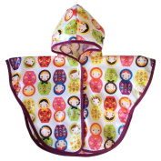 Satsuma Designs Baby and Toddler Poncho, Russian Dolls
