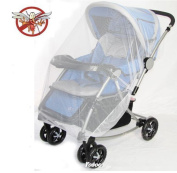 Yosoo Multifunctional Universal 150*120cm Baby Cart Full Cover Mosquito Net Travel System Insect Netting Mosquito Insect Bee Bug Net Fits Most Strollers Bassinets, Cradles and Car Seats Safe Mesh Buggy Elastic Design White
