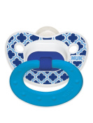 NUK Marrakesh & Whales Puller Pacifier in Assorted Colours and Styles, 18-36 Months