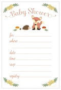 Fox Baby Shower Invitations - Fill In Style (20 Count) With Envelopes