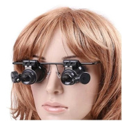 Worldoor ® 20x Magnifying Glass Headset Loupe Magnifier Lens Visor with 2 LED Light New Fashion