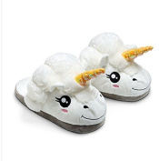 Ylyycc Plush Unicorn Slippers Household Slippers for Grown Ups