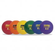 CHAMPION PX85SET Rhino Playground Ball Set, 22cm Diameter, Rubber, Assorted, 6 Balls/Set