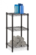 Honey-Can-Do SHF-02218 3-Tier Steel Wire Shelving Tower, Black, 14 by 38cm by 80cm