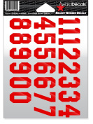 Number Stickers for Helmets
