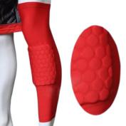 A pair Actpe Basketball Strengthen Kneepad Honeycomb Pad Crashproof Antislip Leg Knee Long Sleeve Protective Pad
