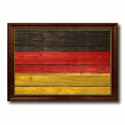 Germany Flag Textured National Country Souvenir Gift Ideas Foreign Country Collection Custom Made Frame Decoration Distressed Rustic Designed Housewarming