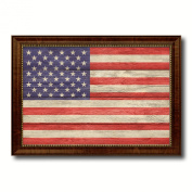 USA Flag Textured National Country Souvenir Gift Ideas Foreign Country Collection Custom Made Frame Decoration Distressed Rustic Designed Housewarming