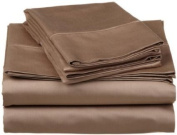 Solid Taupe 300 Thread Count Twin Extra Long size Sheet Set 100 % Egyptian Cotton 3pc Bed Sheet set (Deep Pocket)Twin XL By sheetsnthings