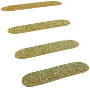 RRI Sabrina Tweed Stair Treads Rug, 20cm by 70cm , Bay Leaf, Set of 4