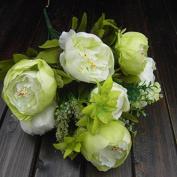 SoooKu 50cm Blooming 8 Heads Peonies and Hydrangeas Silk Artificial Bouquet