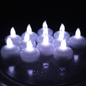 Acmee® Battery Included LED Floating Tealight Waterproof Flameless Candle for Festival Party Wedding