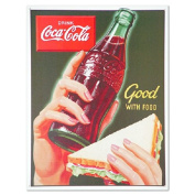 Coca Cola Coke Good with Food Retro Vintage Tin Sign