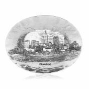 Wendell August Forge Cleveland Cityscape Oval Dish, Medium