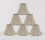 Urbanest 1100848c 15cm Chandelier Lamp Shade, Champagne Set of 6