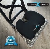 Seat Cushion for Back Pain - Also Great for a Truck Driver, Driving a Car or Any Auto. Coccyx Cushions Are Perfect for Your Office Chair, Wheelchair, Aeroplane and Sitting on the Floor Gives Relief From Tailbone Pain. 100% Memory Foam Guaranteed to Nev ..