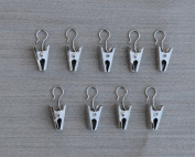 Urbanest 24 Curtain Hooks with Clips, Satin Nickel