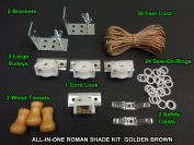 All-in-One ROMAN SHADE HARDWARE KIT, in Golden Brown (All the basics you need