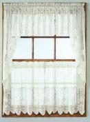 No. 918 Joy-Tier Kitchen Curtain Valance, 150cm by 38cm , White