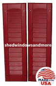 Louvred Shed Shutter or Playhouse Shutter Maroon 23cm X 70cm Sold By the Pair