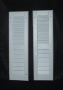 Louvred Shed Shutter or Playhouse Shutter White 15cm X 50cm Sold By the Pair