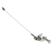 Household Essentials 175 Iron Cord Minder, Silver Powder Coated, 46cm High