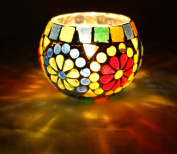 Designer Indian Home Decorative Glass Candle Holder Christmas Gift