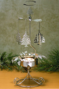Spinning Christmas Trees Candle Holder Scandinavian Design