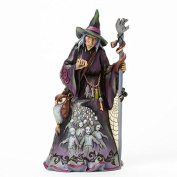 Jim Shore for Enesco Heartwood Creek Witch with Zombie Scene Figurine, 24cm