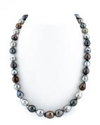 """14K Gold 8-10mm Multicoloured Tahitian South Sea Baroque Cultured Pearl Necklace - AAA Quality, 16"""""""